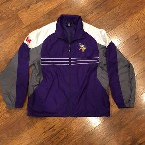 NFL Reebok Minnesota Vikings Football Jacket L